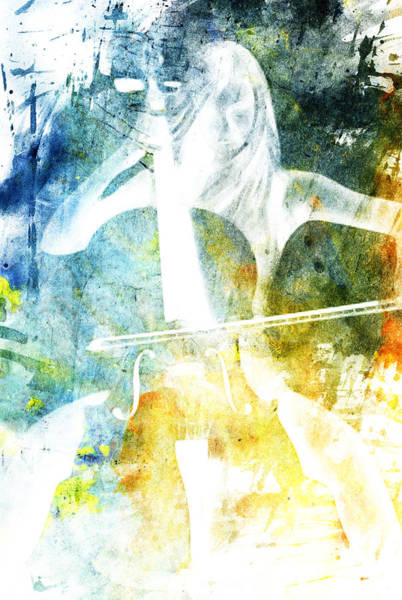 Wall Art - Digital Art - White Cellist by Andrea Barbieri