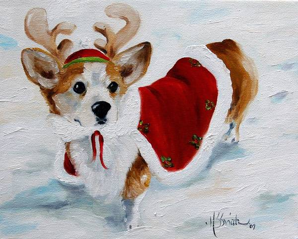 Wall Art - Painting - White Christmas by Mary Sparrow