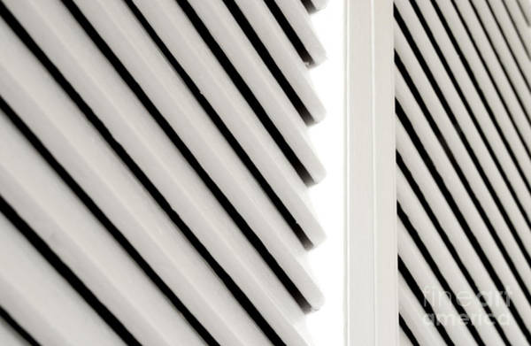 Hinges Photograph - White Closet Door Detail by Blink Images