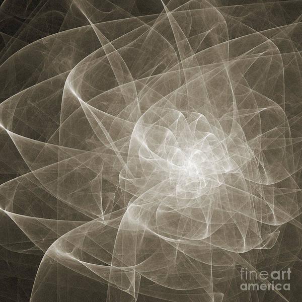Digital Art - White Fractal Flower by Andee Design