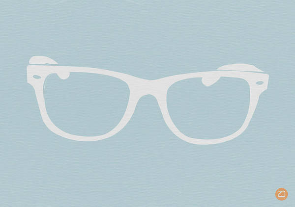 Wall Art - Digital Art - White Glasses by Naxart Studio