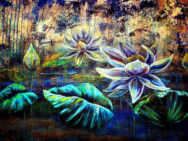 Painting - White Lotus by Ashley Kujan