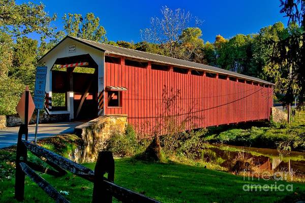 Photograph - White Rock Forge Covered Bridge by Nick Zelinsky