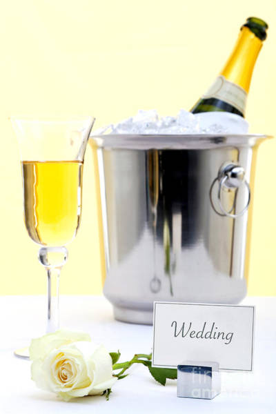 Wedding Reception Photograph - White Rose And Champagne by Richard Thomas