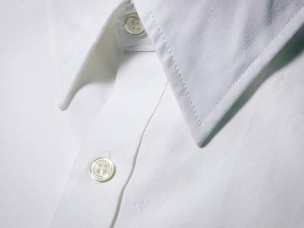 Photograph - White Shirt Collar Detail. by Ballyscanlon