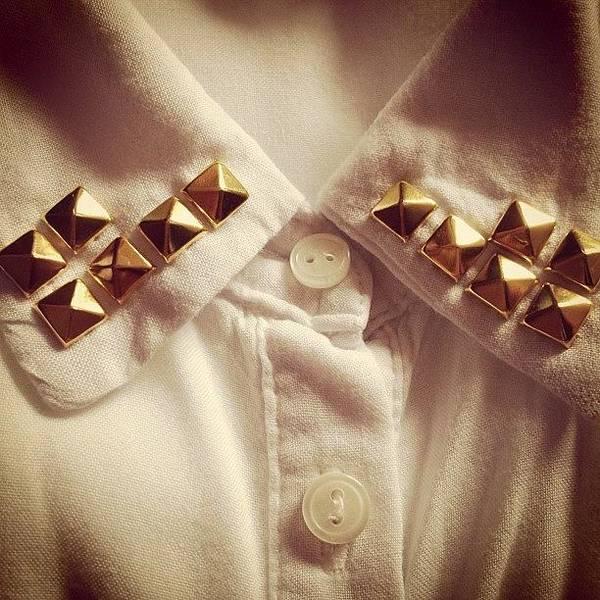 Grace Wall Art - Photograph - #white #shirt #collar #simple #plain by Grace Shine