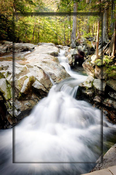 Franconia Notch Photograph - White Water Framed by Greg Fortier