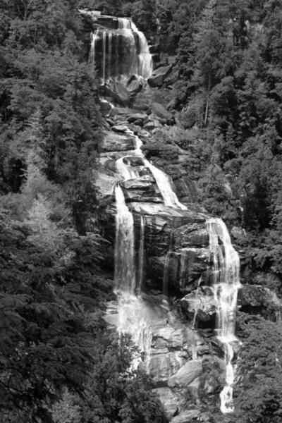 Photograph - Whitewater Falls Sapphire Nc  B And W by Sheila Kay McIntyre