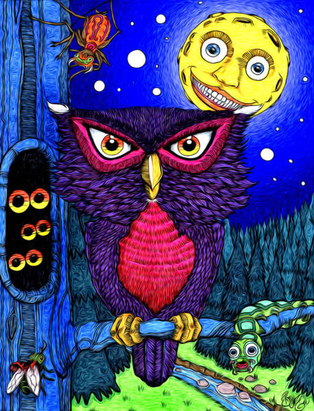 Nocturnal Drawing - Who In The Night by Paul Bratescu