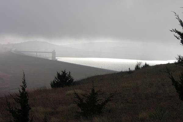 Photograph - Wilson Lake In November Fog by Keith Stokes