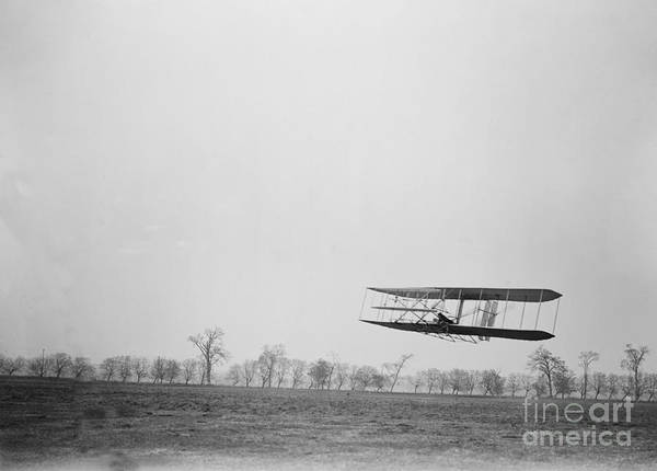 Photograph - Wilbur Wright Piloting Wright Flyer II by Science Source