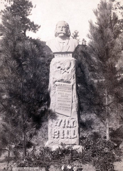 Wild Bill Hickock Photograph - Wild Bills Monument. Wild Bill Hickok by Everett