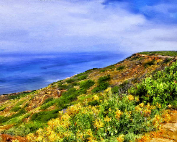 Painting - Wildflowers At Point Loma by Dominic Piperata