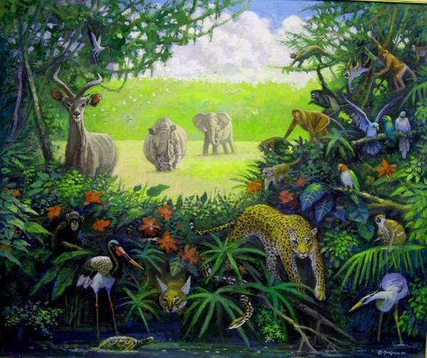 Painting - Wildlife Of Africa by Mel Greifinger