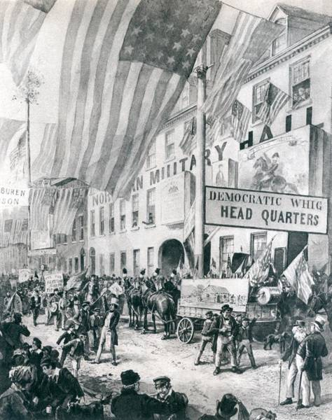 Whig Photograph - William Harrison Campaign Headquarters by Everett