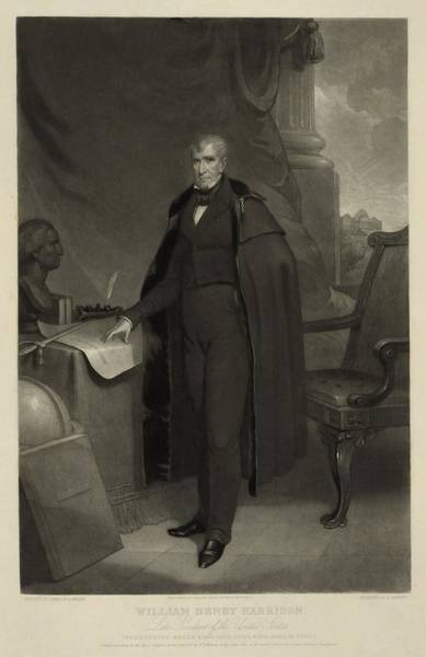Whig Photograph - William Henry Harrison--late President by Everett