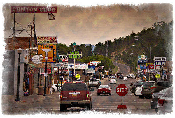 Historic Route 66 Photograph - Williams Arizona - Impressions by Ricky Barnard