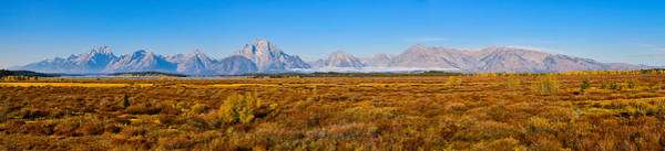 Photograph - Willow Flats Autumn Panorama by Greg Norrell