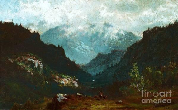 Adirondack Mountains Painting - Wilmington Pass  Adirondacks by Pg Reproductions