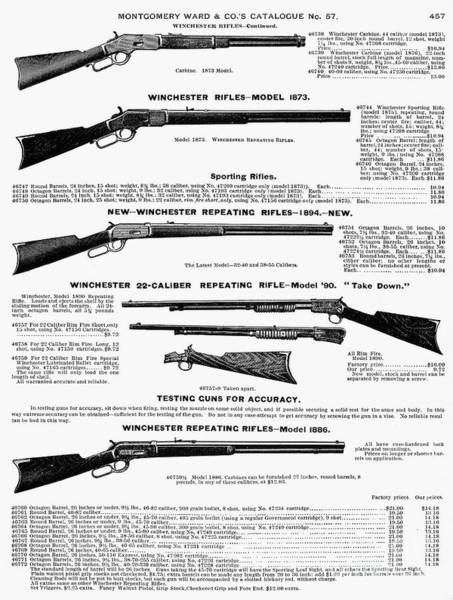 Photograph - Winchester Rifles by Granger