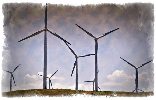 Options Wall Art - Photograph - Wind Farm IIi - Impressions by Ricky Barnard