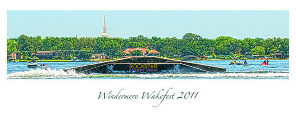Digital Art - Windermere Wakefest by Pete Rems