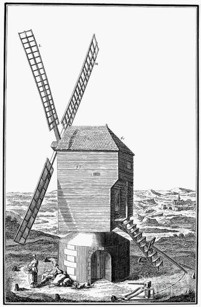 Photograph - Windmill, 18th Century by Granger