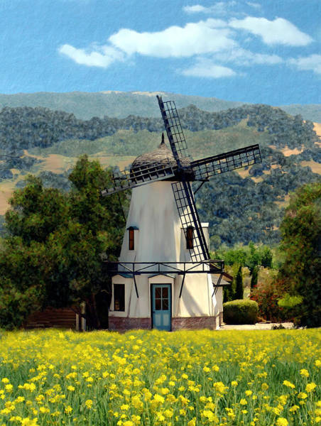 Photograph - Windmill At Mission Meadows Solvang by Kurt Van Wagner