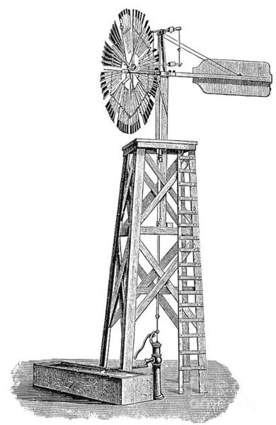 Photograph - Windmill, C1880 by Granger