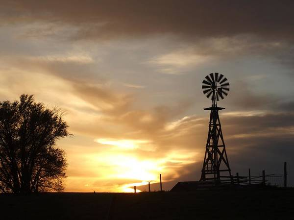 Photograph - Windmill Sunset by HW Kateley