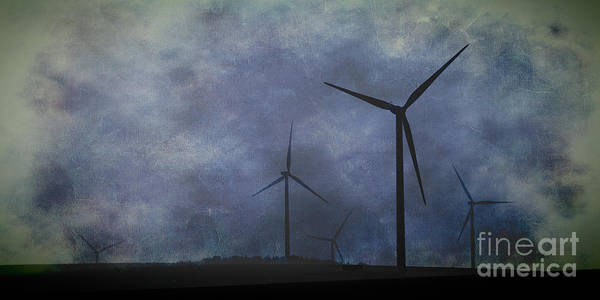 Photograph - Windmills. by Clare Bambers