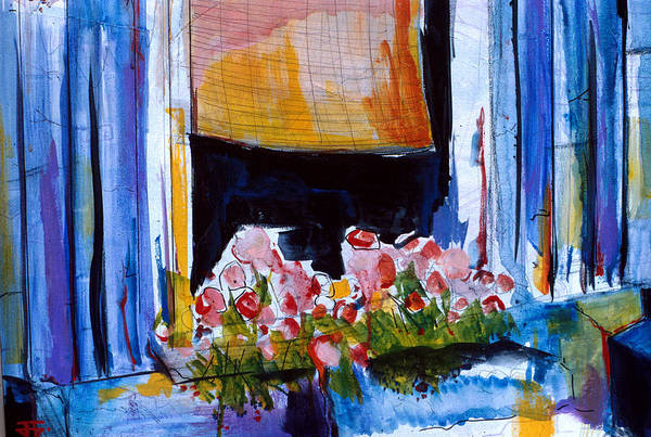 Painting - Window Flowers by John Jr Gholson