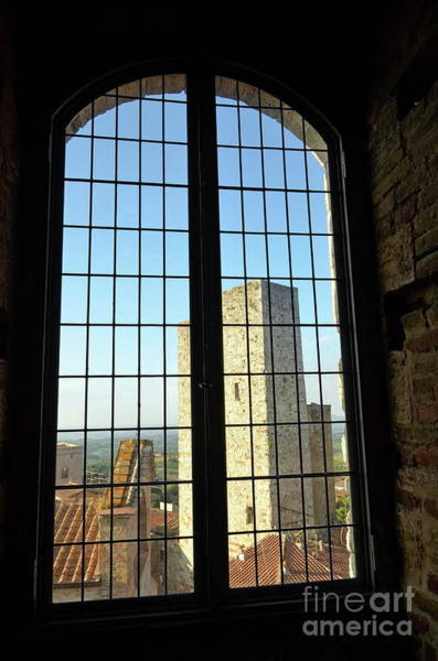 Wall Art - Photograph - Window Inside The Torre Grossa Tower by Sami Sarkis