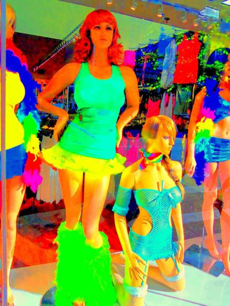 Window Dressing Wall Art - Photograph - Window Shopping Is That Kathy Griffin by Randall Weidner