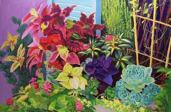 Painting - Window Sill Blooming by Nicolas Bouteneff