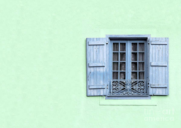 Stucco Photograph - Window With Copy Space by Jane Rix