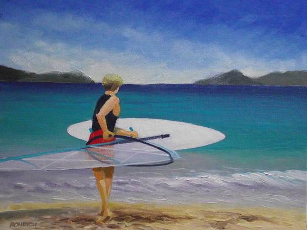 Us Virgin Islands Painting - Windsurfer by Robert Rohrich