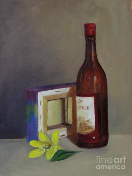 Painting - Wine And Canvas by Asha Sudhaker Shenoy