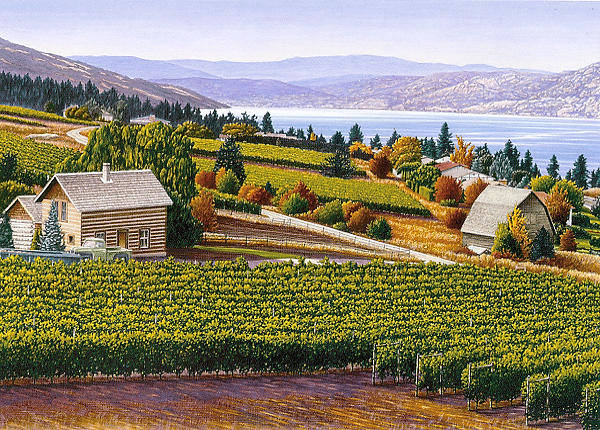 Okanagan Valley Painting - Wine Country by Mal Gagnon