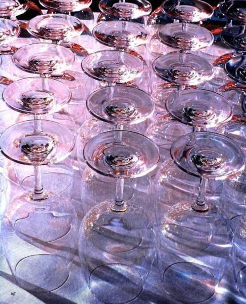 Digital Art - Wine Goblets 2 by Will Borden