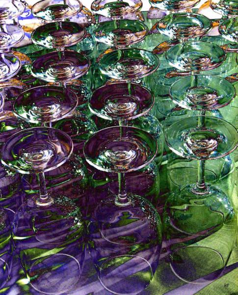 Okanagan Valley Digital Art - Wine Goblets by Will Borden