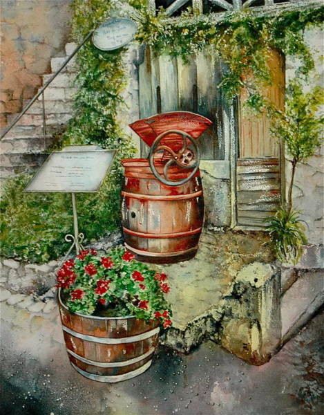 Painting - Wine In The Making by Diane Fujimoto