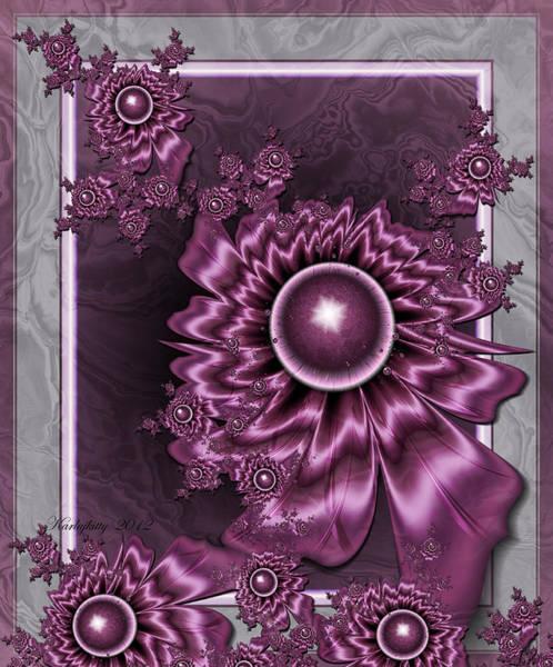 Digital Art - Wine Shimmer by Karla White