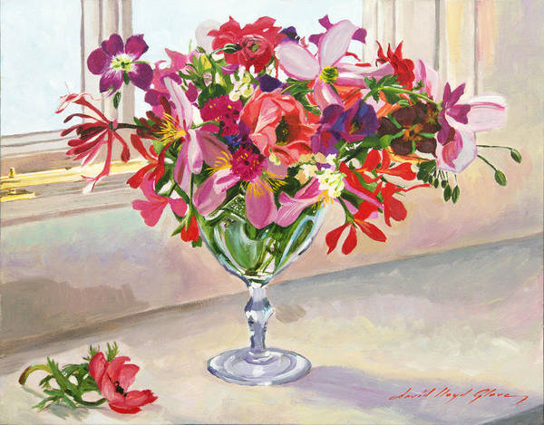 Painting - Wineglass Arrangement by David Lloyd Glover