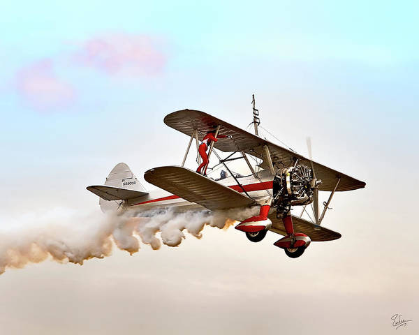 Photograph - Wing Walker Two by Endre Balogh