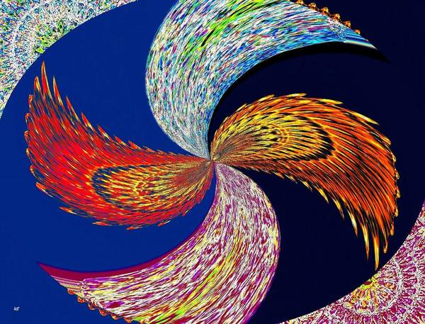 Whirl Digital Art - Wingding by Will Borden