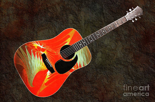 Photograph - Wings Of Paradise Abstract Guitar by Andee Design