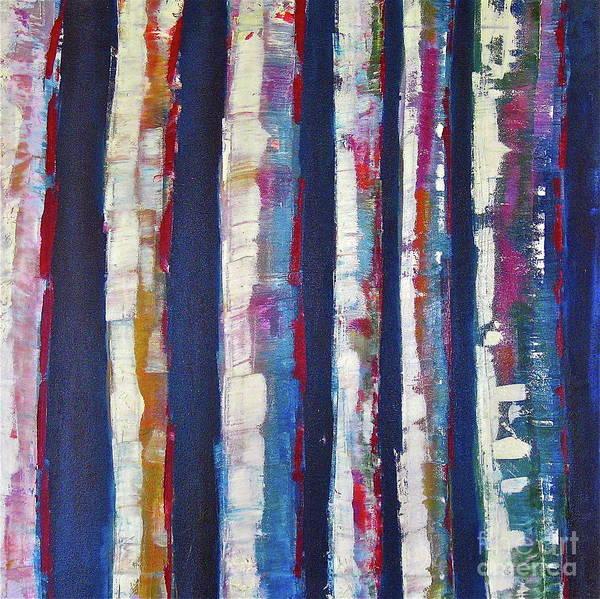 Wall Art - Painting - Winter Birch by Jane Ubell-Meyer