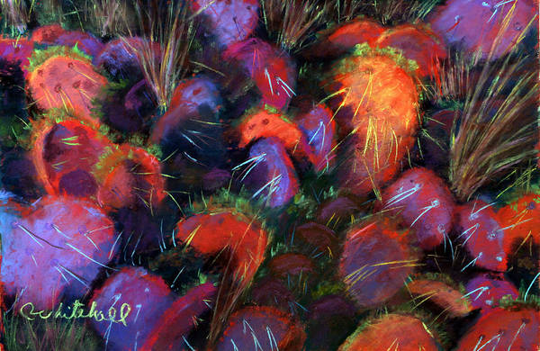Wall Art - Painting - Winter Cactus by Cheryl Whitehall