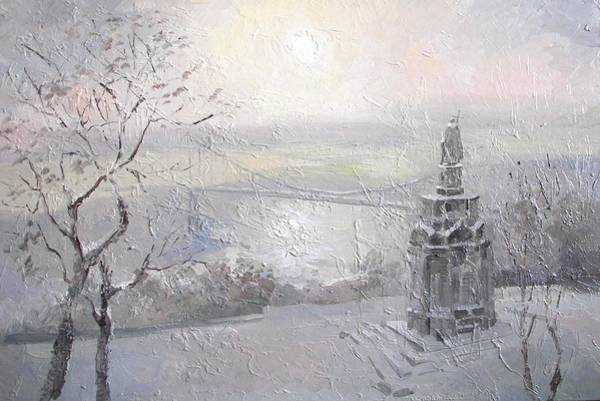 Follow Me Painting - Winter Day. Kiev by Anna Sokol